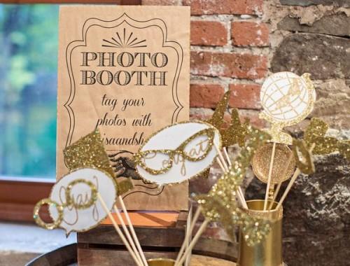 gouden foto props bruiloft