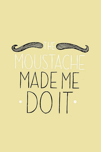 moustache kaart