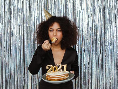 2021 taart nieuwjaarsborrel online photobooth