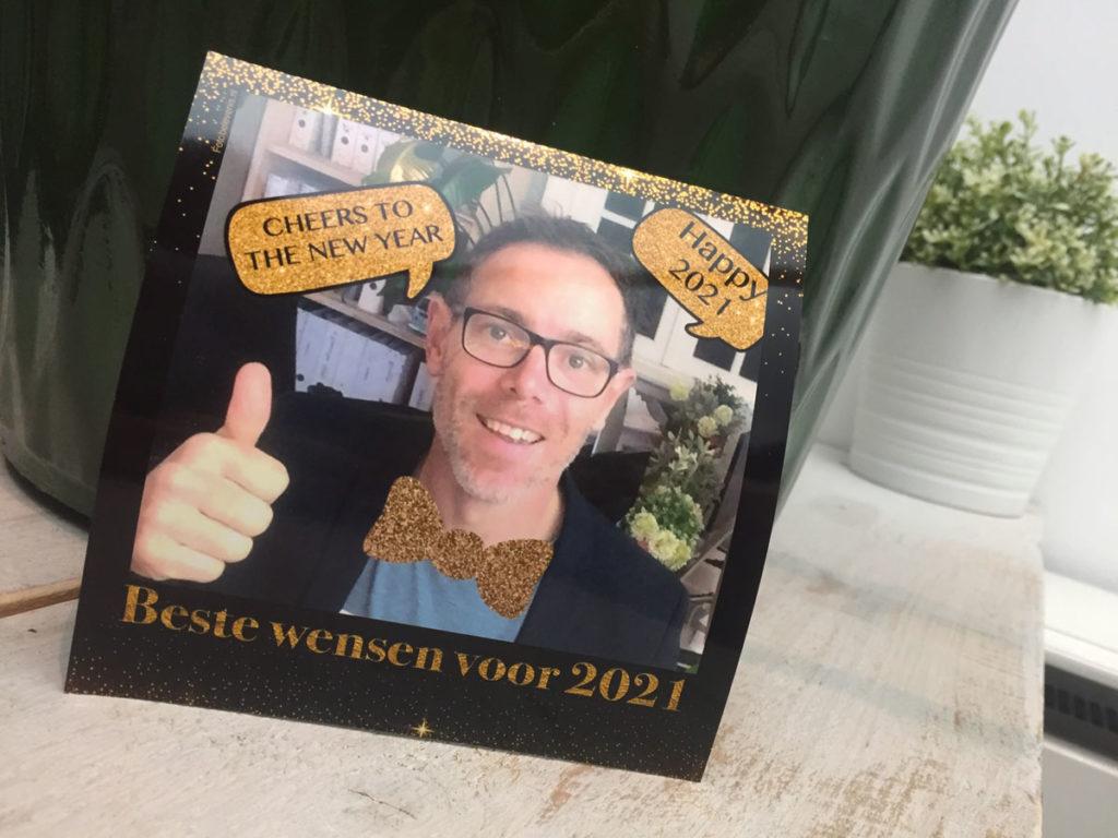 Online photobooth Nieuwjaarsborrel